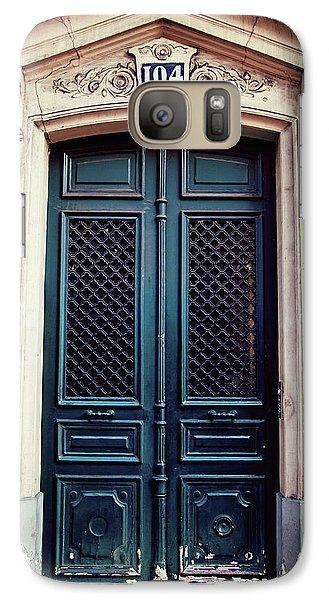 Galaxy Case featuring the photograph No. 104 - Paris Doors by Melanie Alexandra Price