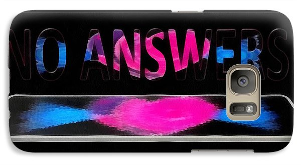 Galaxy Case featuring the digital art Phone Cases No Answers by Catherine Lott