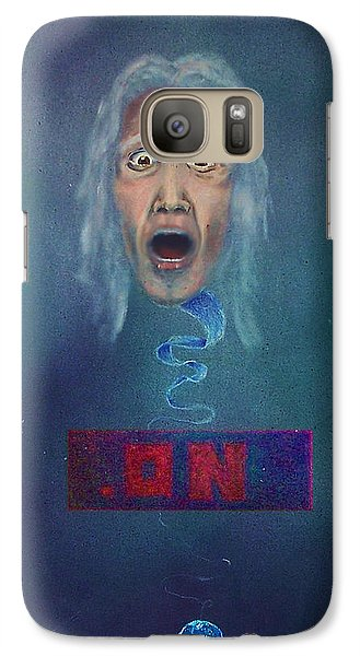 Galaxy Case featuring the painting No Entry Into Heaven by Albert Puskaric