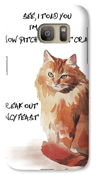 Galaxy Case featuring the painting No Fat Cat by Colleen Taylor