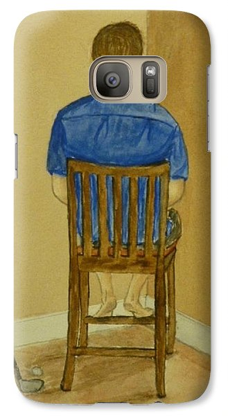 Galaxy Case featuring the painting No Golf For You Today by Kelly Mills