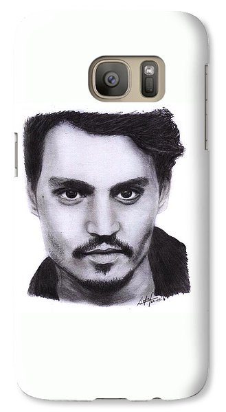 Galaxy S7 Case - Johnny Depp Drawing By Sofia Furniel by Jul V
