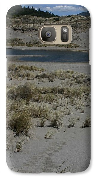 Galaxy Case featuring the photograph No One Is Around by Marie Neder