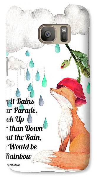 Galaxy Case featuring the digital art No Rain On My Parade by Colleen Taylor