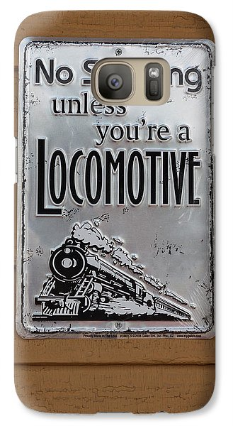 Galaxy Case featuring the photograph No Smoking Unless Youre A Locomotive by Suzanne Gaff