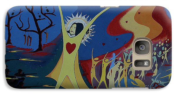 Galaxy Case featuring the painting No War by Vilas Malankar