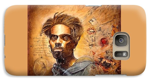 Galaxy Case featuring the painting No Weapon Formed  by Christopher Marion Thomas