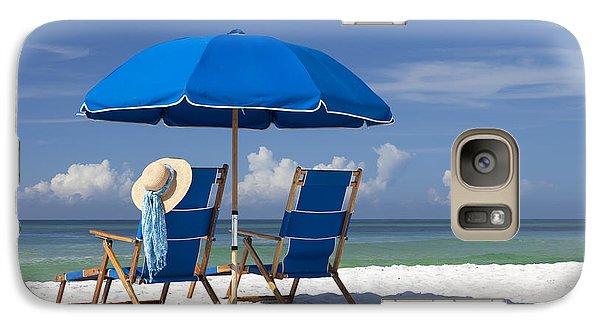 Beach Galaxy S7 Case - No Worries by Janet Fikar