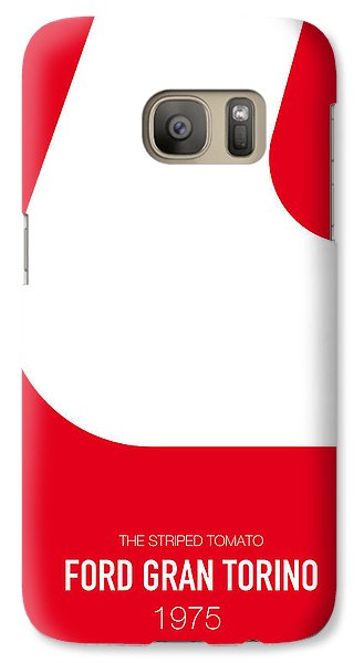 Knight Galaxy S7 Case - No003 My Starsky And Hutch Minimal Movie Car Poster by Chungkong Art