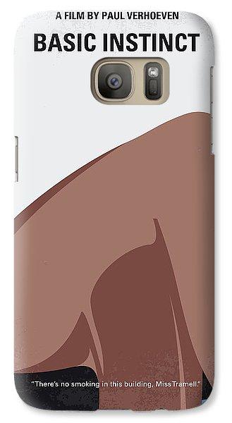 No007 My Basic Instinct Minimal Movie Poster Galaxy S7 Case by Chungkong Art