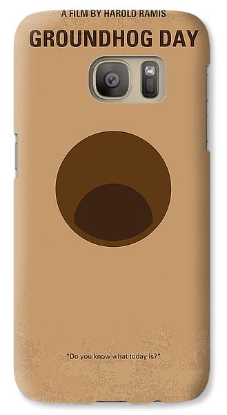 No031 My Groundhog Minimal Movie Poster Galaxy S7 Case by Chungkong Art