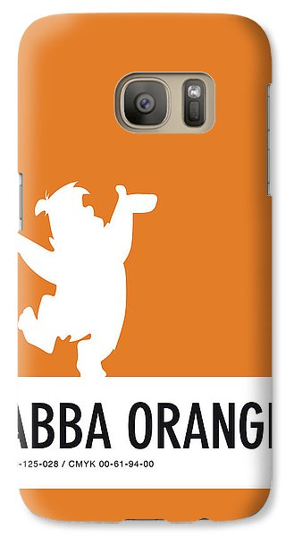 Mice Galaxy S7 Case - No04 My Minimal Color Code Poster Fred Flintstone by Chungkong Art