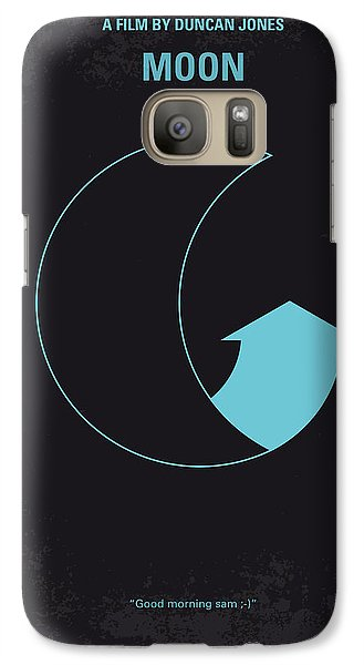 Astronaut Galaxy S7 Case - No053 My Moon 2009 Minimal Movie Poster by Chungkong Art
