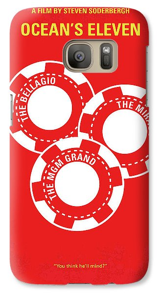 No056 My Oceans 11 Minimal Movie Poster Galaxy S7 Case by Chungkong Art