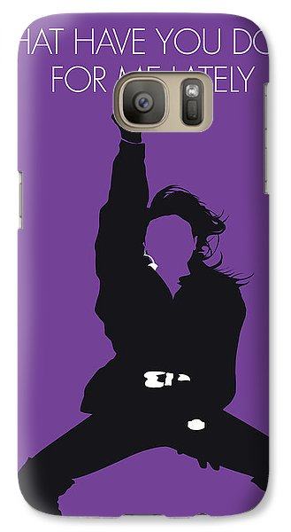 Rhythm And Blues Galaxy S7 Case - No091 My Janet Jackson Minimal Music Poster by Chungkong Art