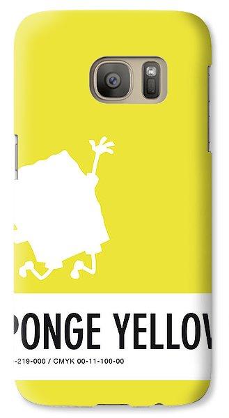 Woodpecker Galaxy S7 Case - No10 My Minimal Color Code Poster Spongebob by Chungkong Art