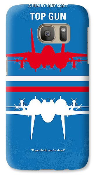 Time Galaxy S7 Case - No128 My Top Gun Minimal Movie Poster by Chungkong Art