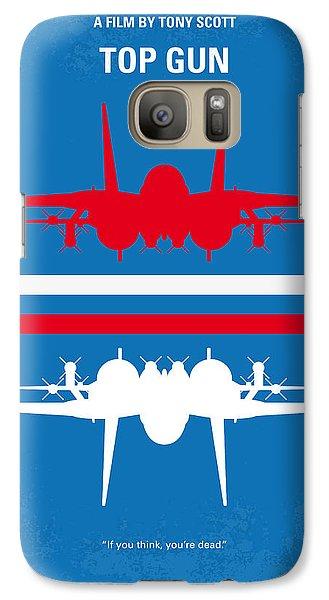 No128 My Top Gun Minimal Movie Poster Galaxy S7 Case by Chungkong Art