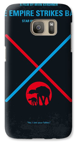 Falcon Galaxy S7 Case - No155 My Star Wars Episode V The Empire Strikes Back Minimal Movie Poster by Chungkong Art