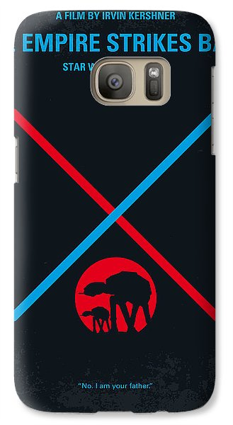 No155 My Star Wars Episode V The Empire Strikes Back Minimal Movie Poster Galaxy S7 Case by Chungkong Art