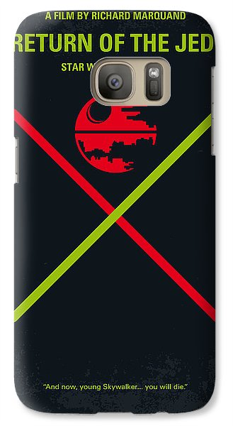 No156 My Star Wars Episode Vi Return Of The Jedi Minimal Movie Poster Galaxy S7 Case by Chungkong Art