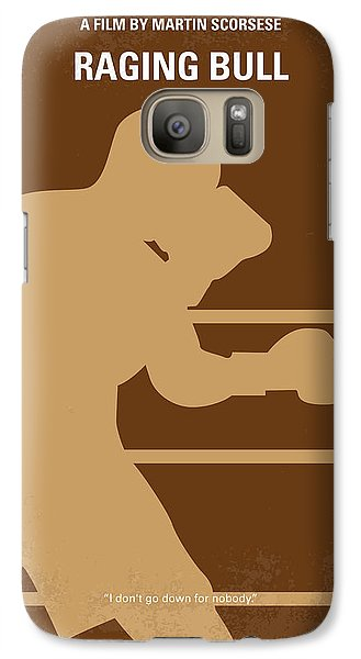 Bull Galaxy S7 Case - No174 My Raging Bull Minimal Movie Poster by Chungkong Art