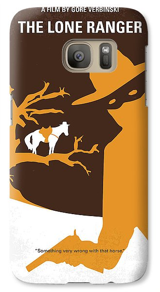 No202 My The Lone Ranger Minimal Movie Poster Galaxy S7 Case by Chungkong Art