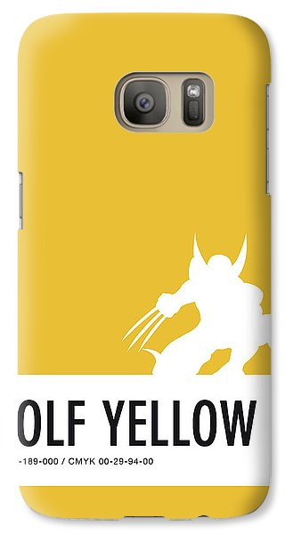Spider Galaxy S7 Case - No21 My Minimal Color Code Poster Wolverine by Chungkong Art