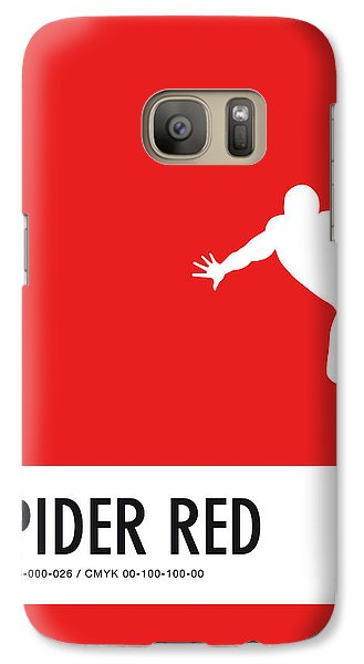 Spider Galaxy S7 Case - No24 My Minimal Color Code Poster Spiderman by Chungkong Art