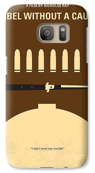 No318 My Rebel Without A Cause Minimal Movie Poster Galaxy S7 Case by Chungkong Art