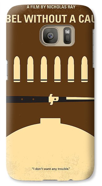 No318 My Rebel Without A Cause Minimal Movie Poster Galaxy Case by Chungkong Art
