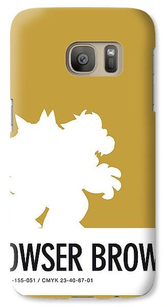 Daisy Galaxy S7 Case - No38 My Minimal Color Code Poster Bowser by Chungkong Art