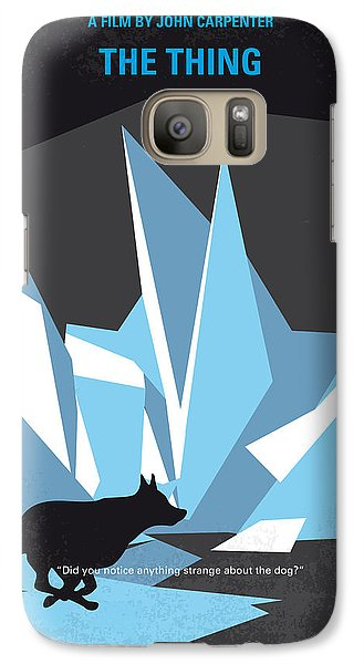 Helicopter Galaxy S7 Case - No466 My The Thing Minimal Movie Poster by Chungkong Art