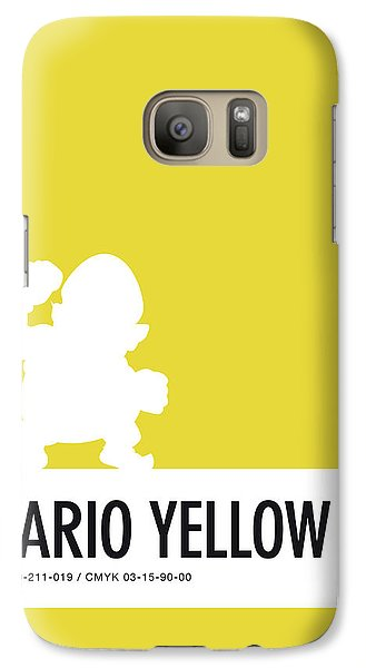 Daisy Galaxy S7 Case - No43 My Minimal Color Code Poster Wario by Chungkong Art