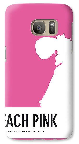 Daisy Galaxy S7 Case - No44 My Minimal Color Code Poster Peach by Chungkong Art