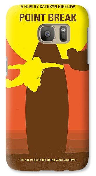 No455 My Point Break Minimal Movie Poster Galaxy S7 Case by Chungkong Art