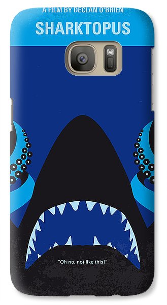 No485 My Sharktopus Minimal Movie Poster Galaxy S7 Case by Chungkong Art
