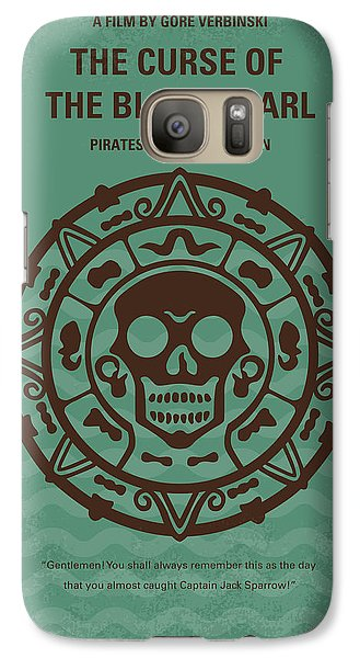 Sparrow Galaxy S7 Case - No494-1 My Pirates Of The Caribbean I Minimal Movie Poster by Chungkong Art