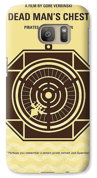 Sparrow Galaxy S7 Case - No494-2 My Pirates Of The Caribbean II Minimal Movie Poster by Chungkong Art