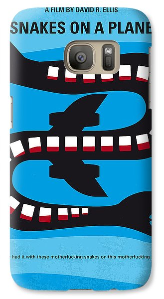 No501 My Snakes On A Plane Minimal Movie Poster Galaxy S7 Case