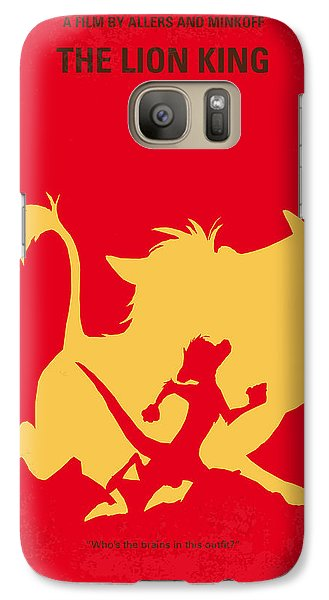 No512 My The Lion King Minimal Movie Poster Galaxy S7 Case by Chungkong Art