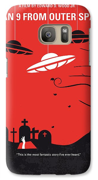 No518 My Plan 9 From Outer Space Minimal Movie Poster Galaxy S7 Case