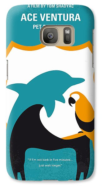 No558 My Ace Ventura Minimal Movie Poster Galaxy S7 Case by Chungkong Art