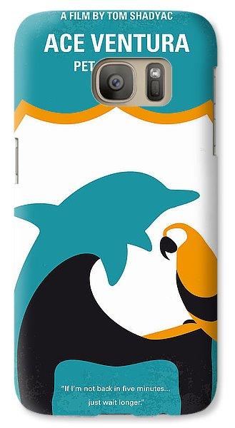 No558 My Ace Ventura Minimal Movie Poster Galaxy Case by Chungkong Art