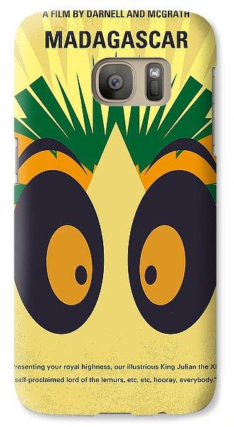 Penguin Galaxy S7 Case - No589 My Madagascar Minimal Movie Poster by Chungkong Art
