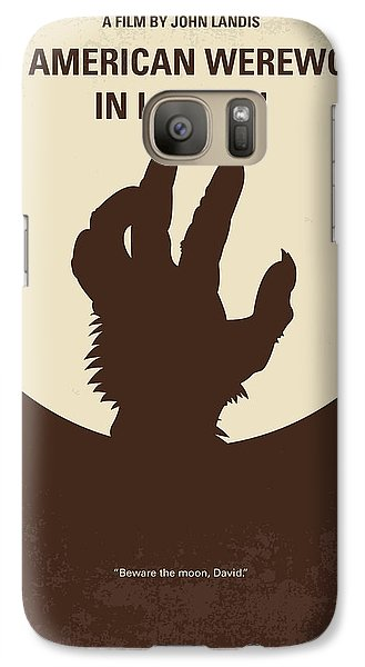 No593 My American Werewolf In London Minimal Movie Poster Galaxy S7 Case