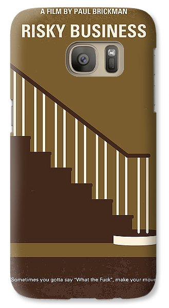 No615 My Risky Business Minimal Movie Poster Galaxy S7 Case by Chungkong Art