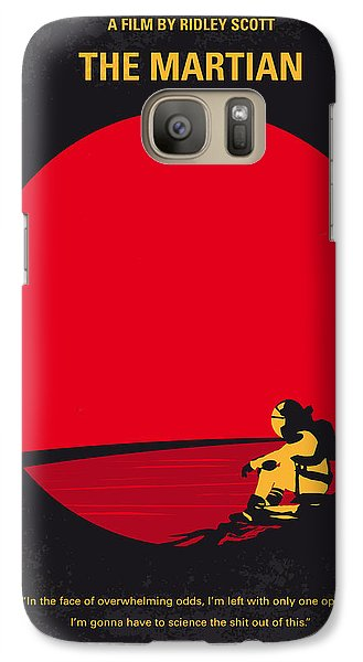 Astronaut Galaxy S7 Case - No620 My The Martian Minimal Movie Poster by Chungkong Art