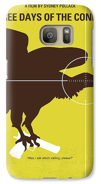 No659 My Three Days Of The Condor Minimal Movie Poster Galaxy S7 Case by Chungkong Art
