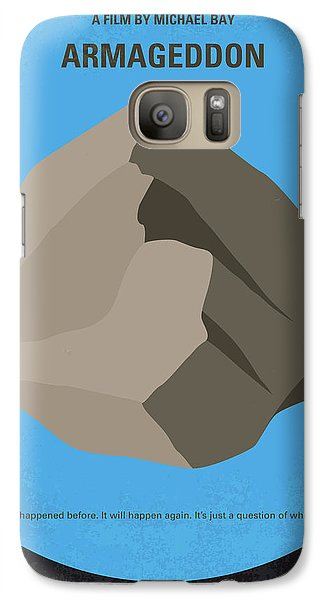 No695 My Armageddon Minimal Movie Poster Galaxy S7 Case by Chungkong Art